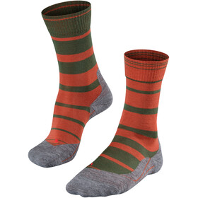 Falke TK5 Stripe Miehet sukat , oranssi/oliivi